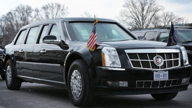 """A limusine presidencial tem o apelido de """"A Besta"""" - GETTY IMAGES"""