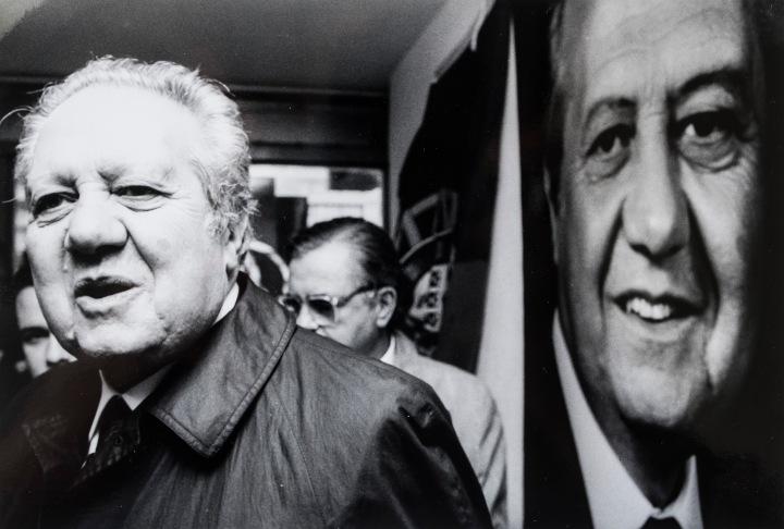 Em campanha para as presidenciais de 1991 - DR - Fernando Veludo