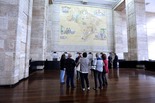 Visitantes na Prefeitura de São Paulo