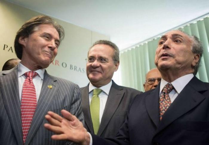 Eunício Oliveira, Renan e Temer.